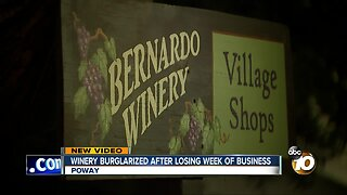 Winery burglarized after losing week of business