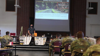 Civil Affairs Soldiers Conduct CIED Briefing B-roll