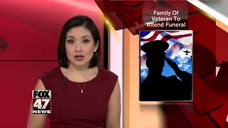Family of veteran expected to attend funeral