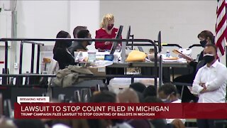 Trump campaign files lawsuit in Michigan to stop vote counting