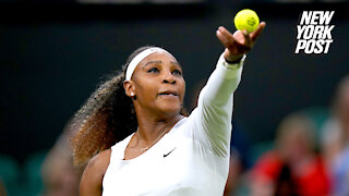 Serena Williams withdraws from Wimbledon in first-round injury stunner