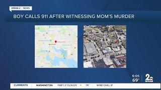 Boy calls 911 after witnessing mom's murder
