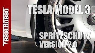 Tesla Model 3 Schmutzfang / Spritzschutz Version 2.0 - Test german