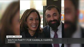 Milwaukeeans host watch party for Kamala Harris