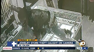 Jewelry store theft caught on camera