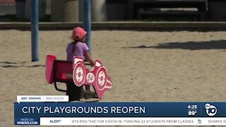 City reopens playgrounds