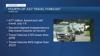 AAA: July 4th travel expected to reach pre-pandemic levels