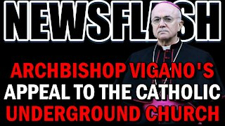 NEWSFLASH: Archbishop Vigano Issues a Worldwide Appeal to the Underground Church!