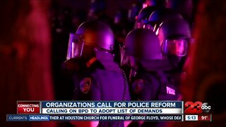 Organizations call for police reform