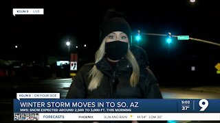 Winter storm, snow continue in Southern Arizona Tuesday