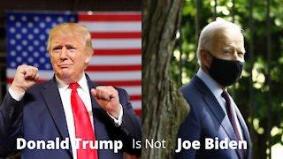Donald Trump Is Not Joe Biden