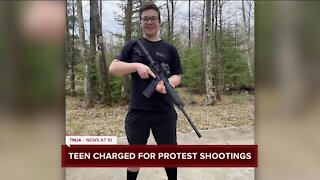 Kyle Rittenhouse charged with homicide in Kenosha shootings that killed two protesters