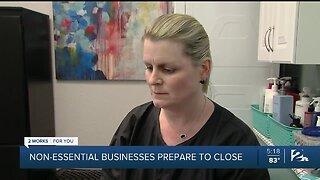 Non-Essential Businesses Closing