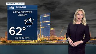 Mild Saturday with a slight chance for southern showers