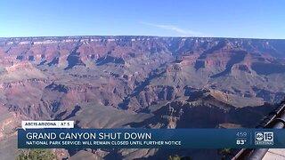 Grand Canyon shut down amid coronavirus