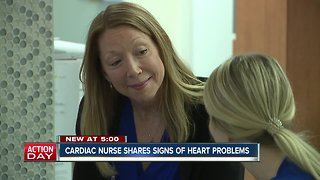 Nurse works to educate women about symptoms of heart attacks
