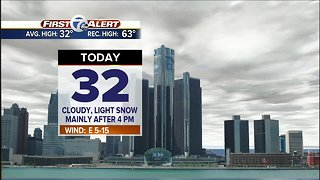 Snow chance later today
