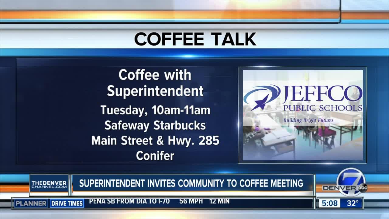 JeffCo Schools superintendent invites community to coffee meeting
