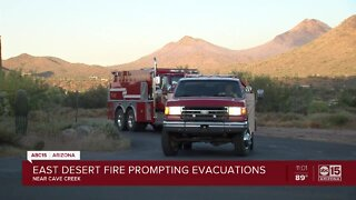 Wind remains a concern at scene of East Desert Fire