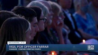 Memorial vigil held for Chandler Officer Chris Farrar