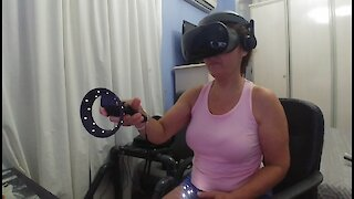 My wife in virtual reality
