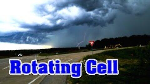 Rotating Cell Thunderstorm Missouri Severe