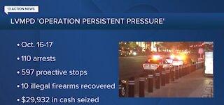 Police make 110 arrests last weekend on Las Vegas Strip