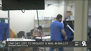 One day left to request mail-in ballot