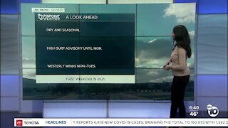 ABC 10News Pinpoint Weather for Sat. Jan. 2, 2021
