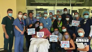 Boca Raton man thanks health care workers after recovering from COVID-19 complications