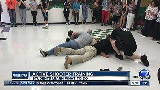 Active shooter training at Pinnacle Charter School