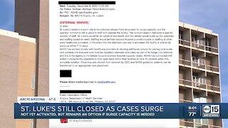 St. Luke's Hospital in Phoenix still closed as COVID cases surge