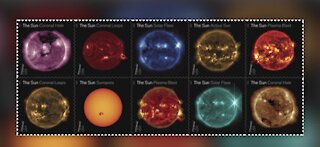 US Postal Service releases new sun stamps