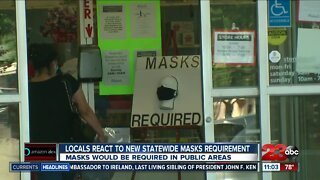 locals react to new statewide masks requirement