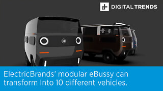 ElectricBrands' modular eBussy can transform Into 10 different vehicles.