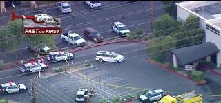 Car slams into restaurant near Strip