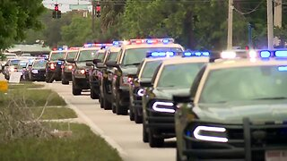 PROCESSION VIDEO: FHP trooper killed on I-95 in Martin County