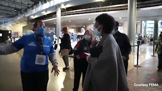 A snapshot of the COVID vaccination process at Detroit's Ford Field