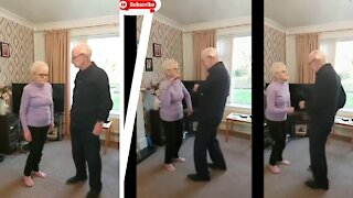 U.K Old couple celebrate 100th Marriage Anniversary with Dance