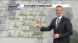 Few snow showers possible Thursday night