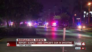 Fort Myers Police Officer shot and killed with his own weapon