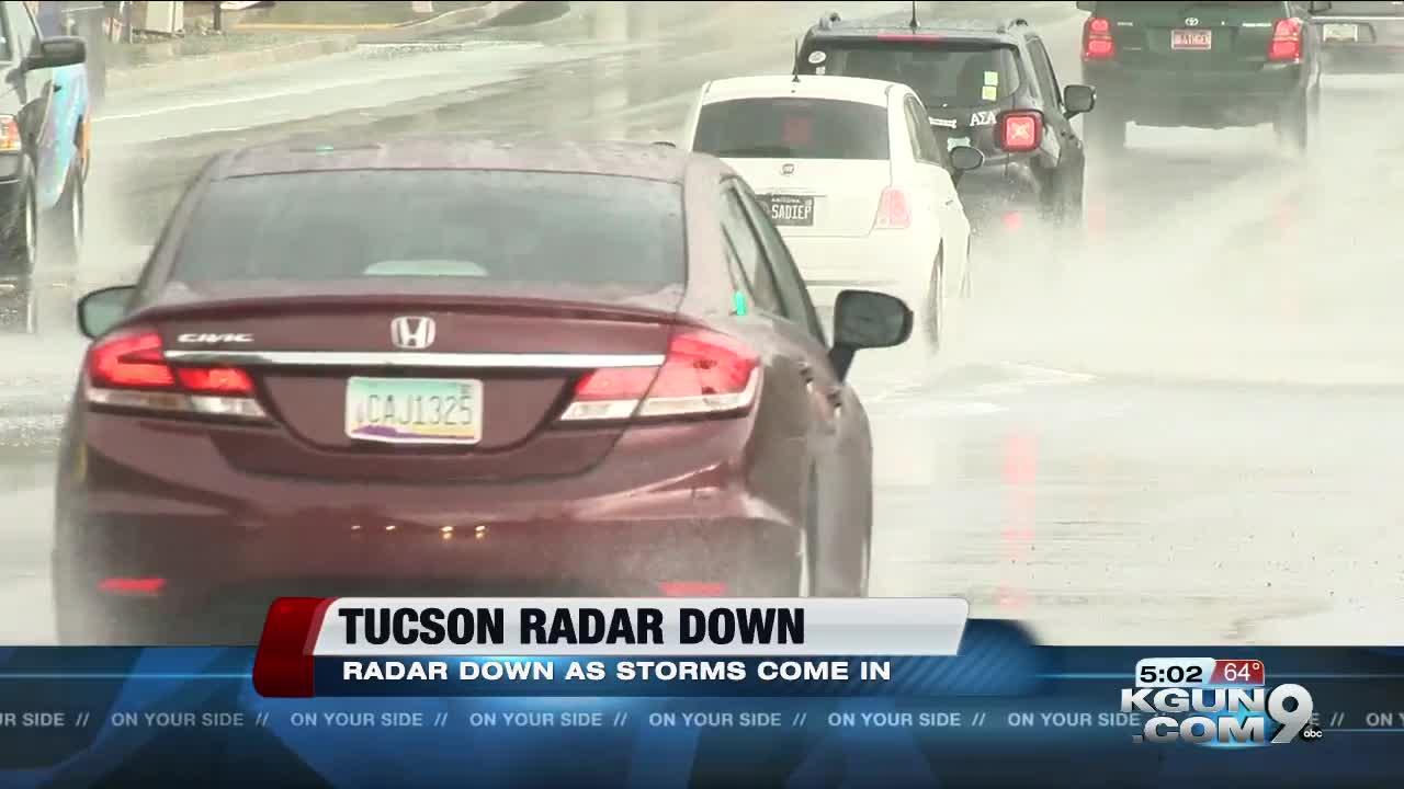 Tucson radar down for maintenance