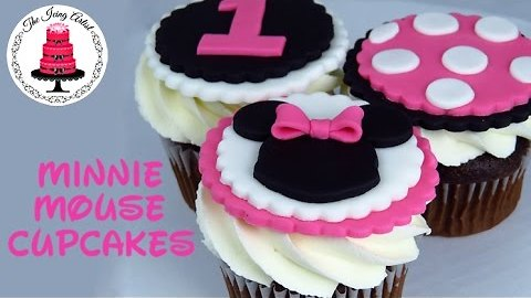 Minnie Mouse Cupcake Toppers - How To With The Icing Artist The Icing Artist