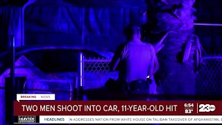 11-year-old child struck by gunfire in East Bakersfield after men shoot into family vehicle