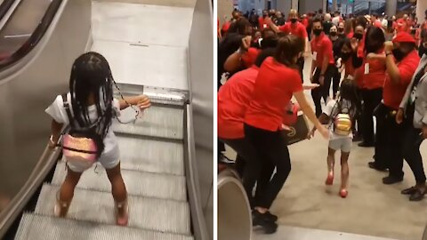 8-year-old CEO celebrates playoff win with stadium staff