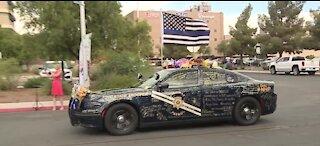 Law enforcement procession escorts body of fallen Nevada Highway Patrol trooper