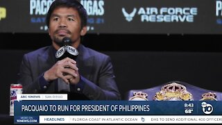 Boxer Manny Pacquaio announces candidacy for Philippines president