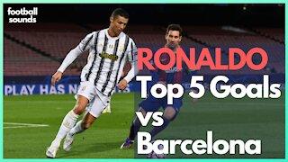RONALDO - TOP 5 Goals vs Barcelona | Unbelievable! ⚽⚽⚽