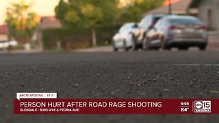 Person hurt after road rage shooting in Glendale