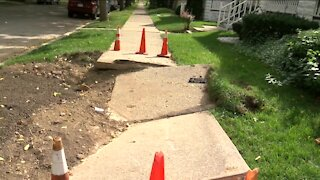 Milwaukee neighbors still waiting for sidewalk repairs, more than a month after August storms
